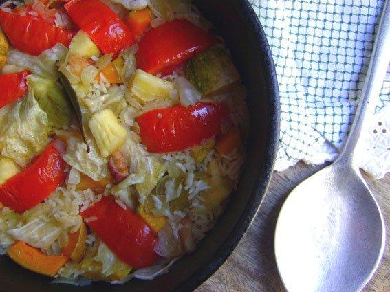 arroz na panela
