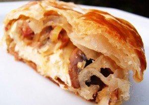 Torta Folhada de Cogumelos, Alho-poró e Blumenau
