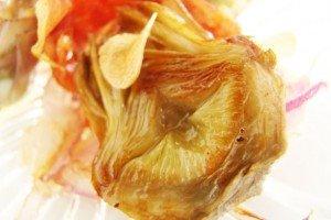 Mini Alcachofra com crispies de Parma