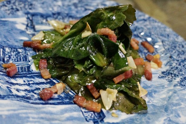 Escarola com bacon 1