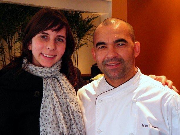 Alessandra e o Chef Ivan Lopes