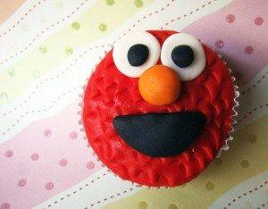 Cupcake do Elmo