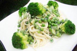 Espaguete Tons de Verde