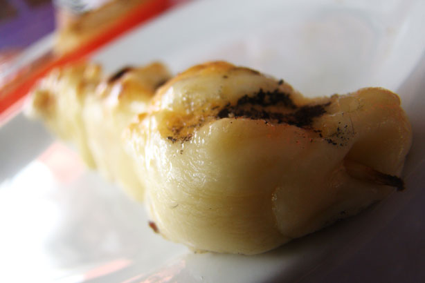 Espetinho de queijo mussarela