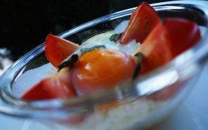 Ovos com Tomates e Arroz