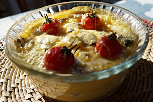 Polenta com gorgonzola